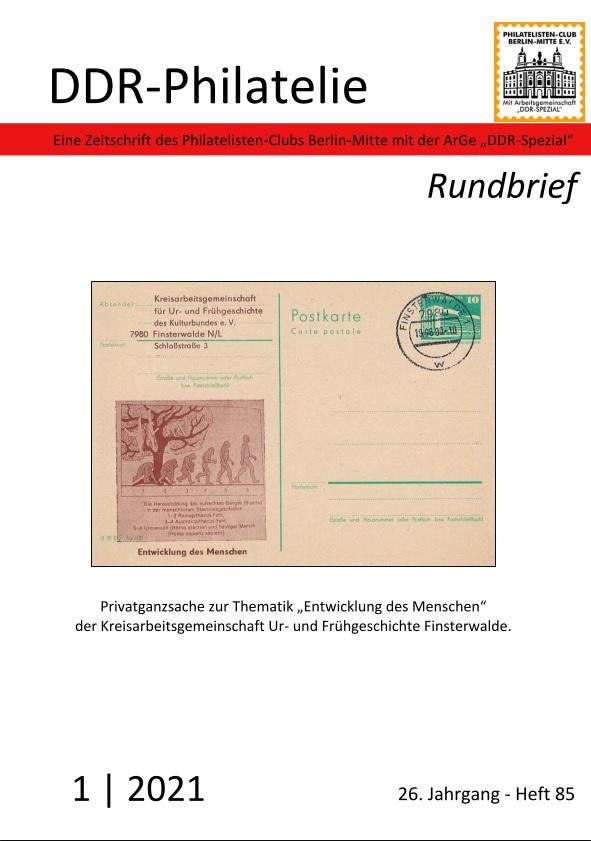 Philatelie DDR Rundbrief Literatur