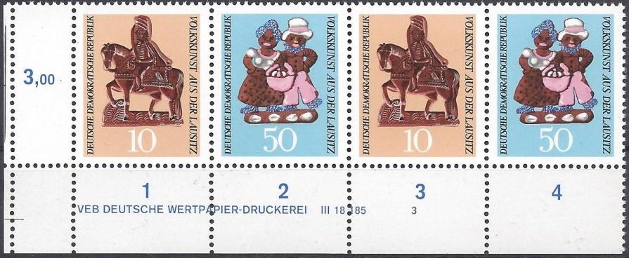 Philatelie DDR Druckvermerke DV
