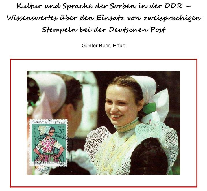 DDR Sorben zweisprachige Stempel
