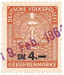 DDR Fiskalphilatelie