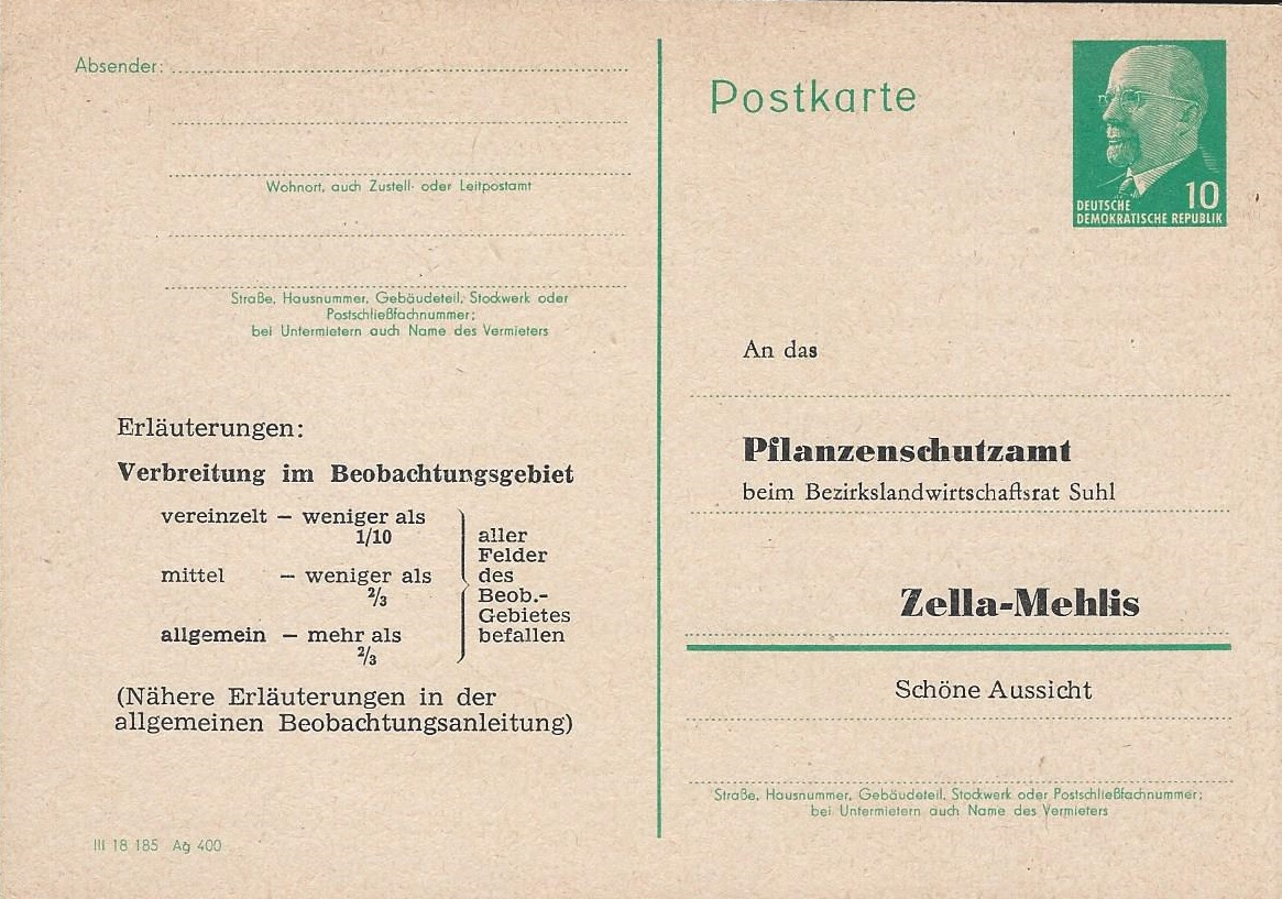 DDR Philatelie Briefmarken Forschung Ganzsache
