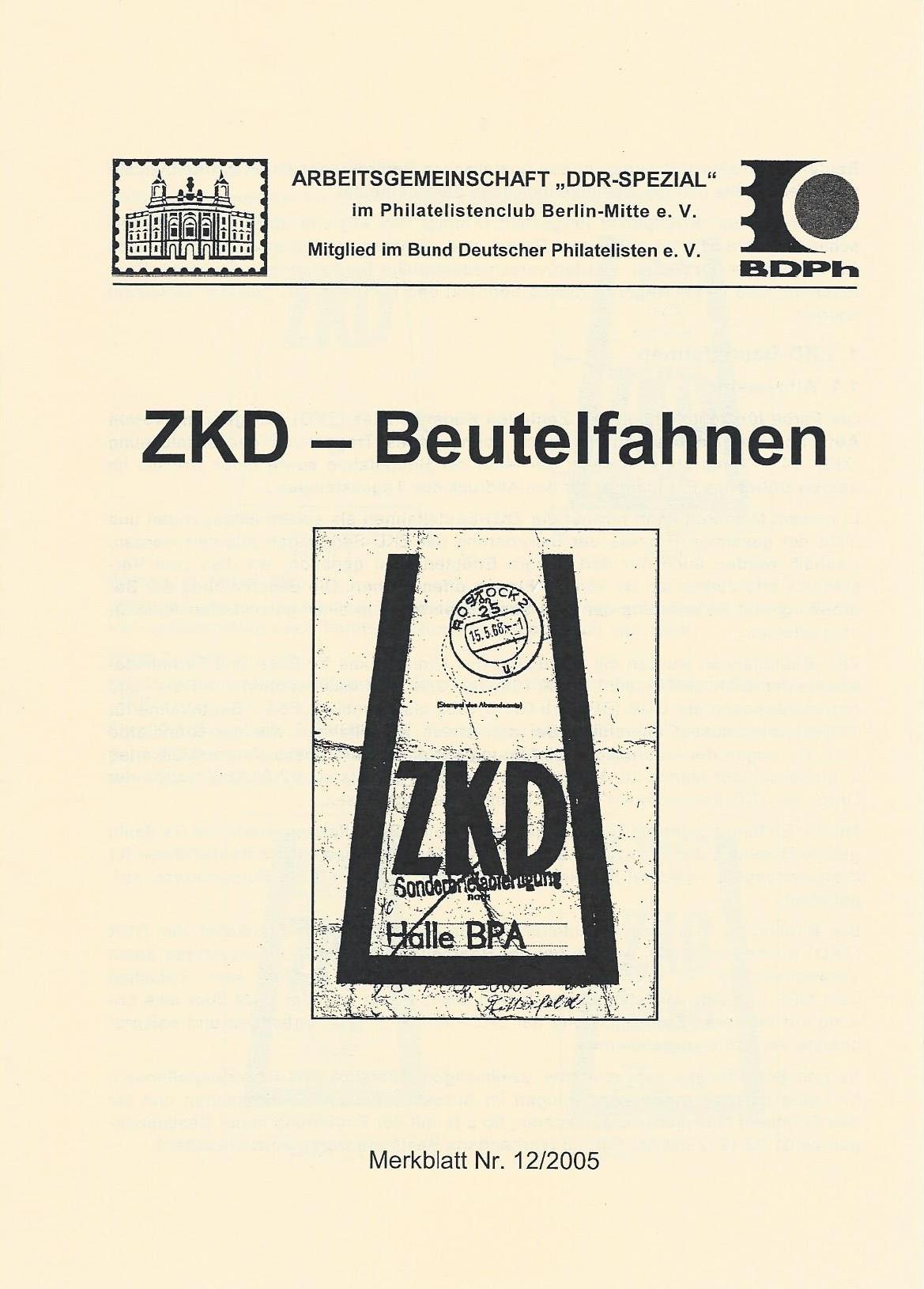 DDR Philatelie Literatur Beutelfahnen