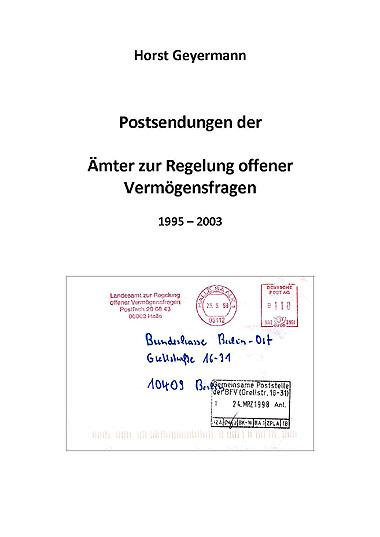 DDR Philatelie Literatur Postsendung Amt offene Vermögensfragen