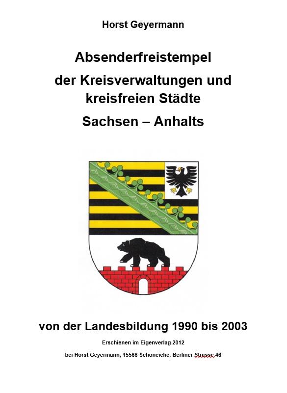 DDR Philatelie Literatur Absenderfreistempel Sachsen-Anhalt