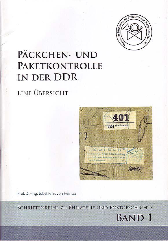 DDR Philatelie Literatur Päckchen Paket Kontrolle