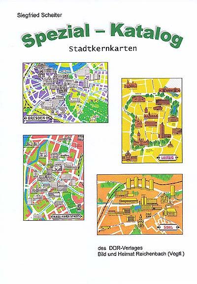 DDR Philatelie Literatur Stadtkernkarten