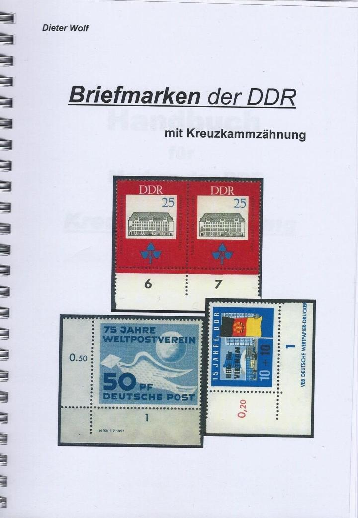 DDR Philatelie Literatur Kreuzkammzähnung