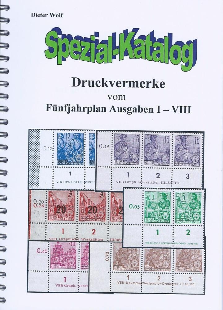 DDR Philatelie Literatur Druckvermerke DV Katalog
