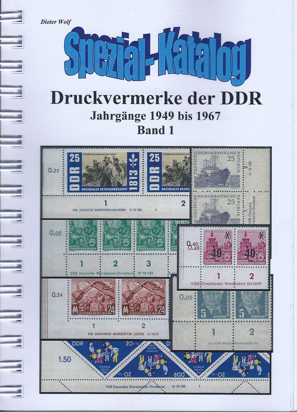 DDR Briefmarken Durckvermerke DV