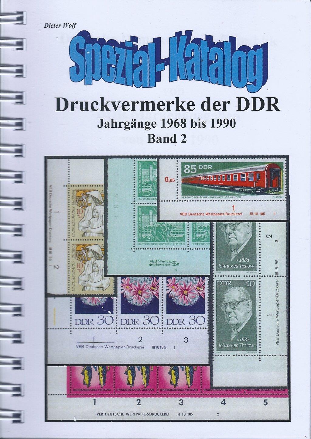 DDR Philatelie Literatur Druckvermerke Katalog