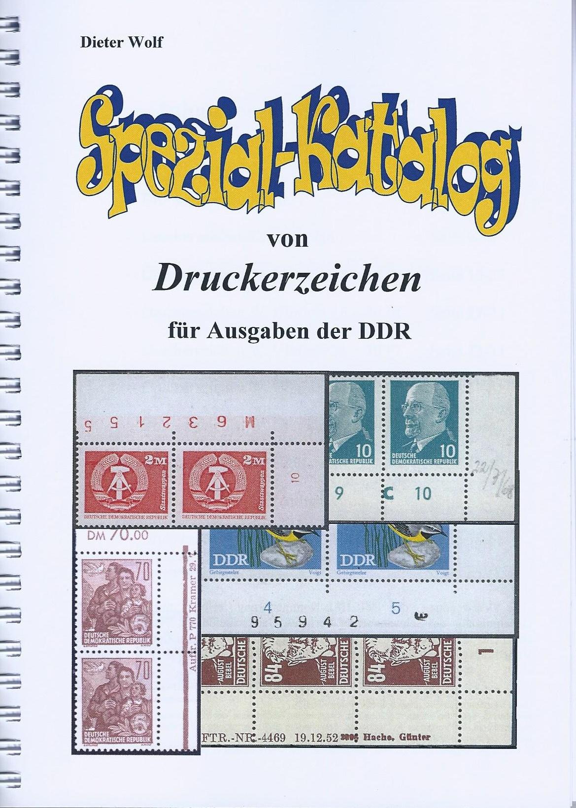 DDR Philatelie Literatur Druckerzeichen DZ Katalog