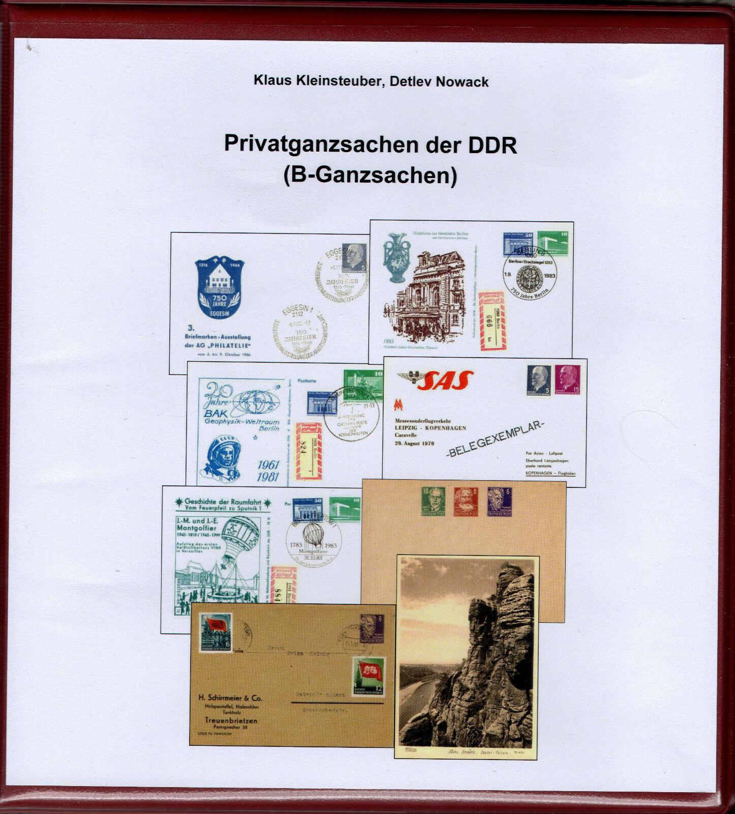 DDR Philatelie Literatur Ganzsachen Privatganzsachen