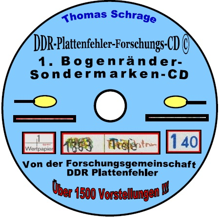 DDR Philatelie Plattenfehler Katalog