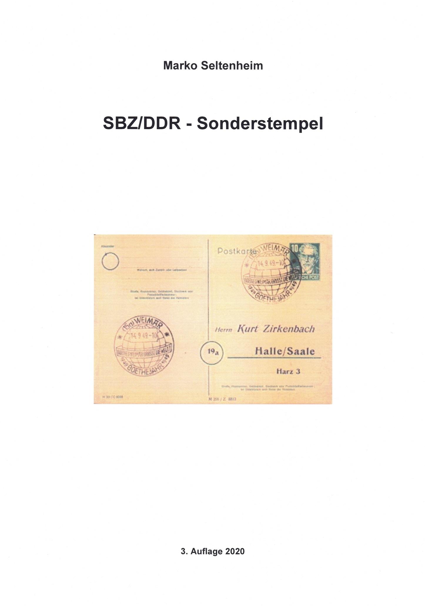 DDR SBZ Philatelie Stempel Sonderstempel