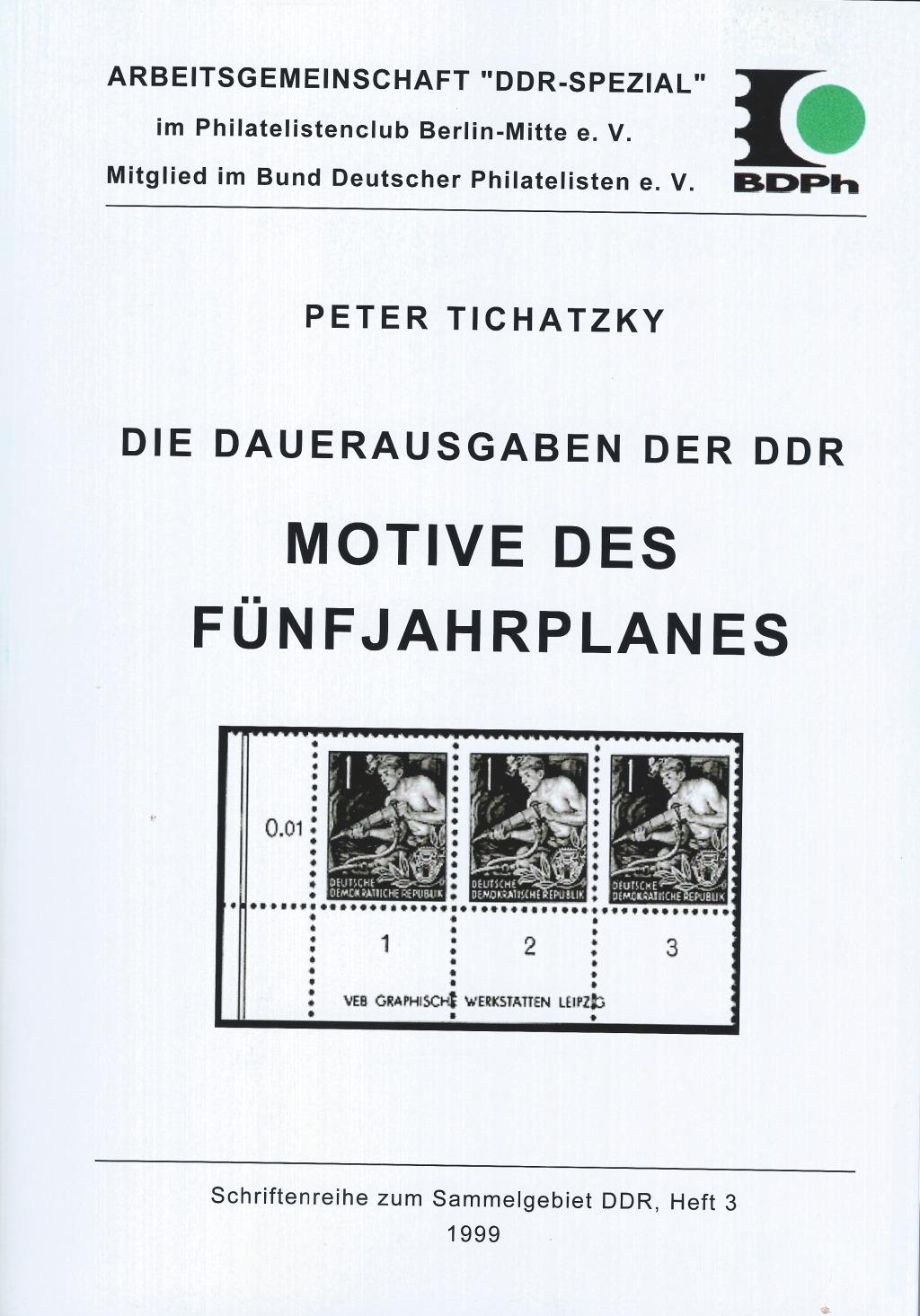 DDR Philatelie Literatur Fünfjahrplan