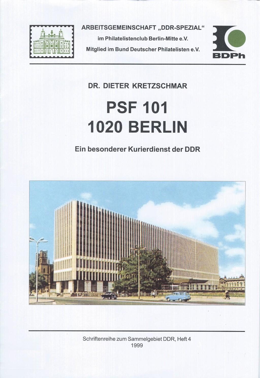 DDR Philatelie Literatur Kurierdienst PSF 101