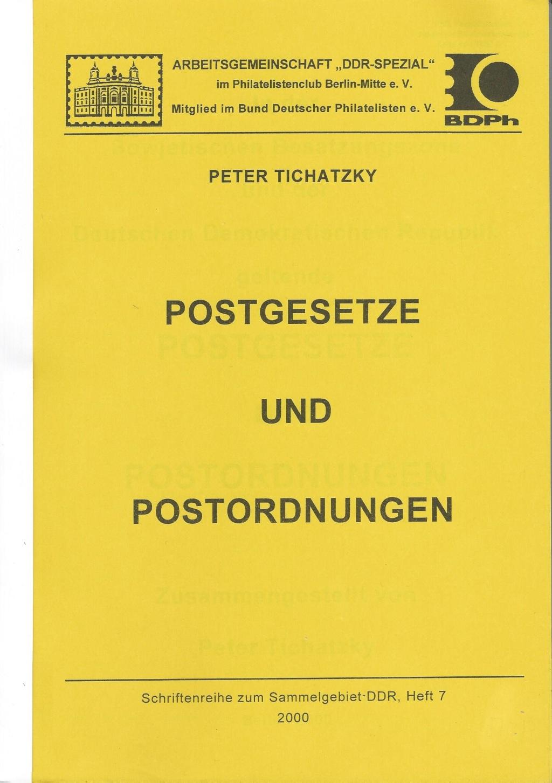DDR Philatelie Literatur Postgesetz Postornung