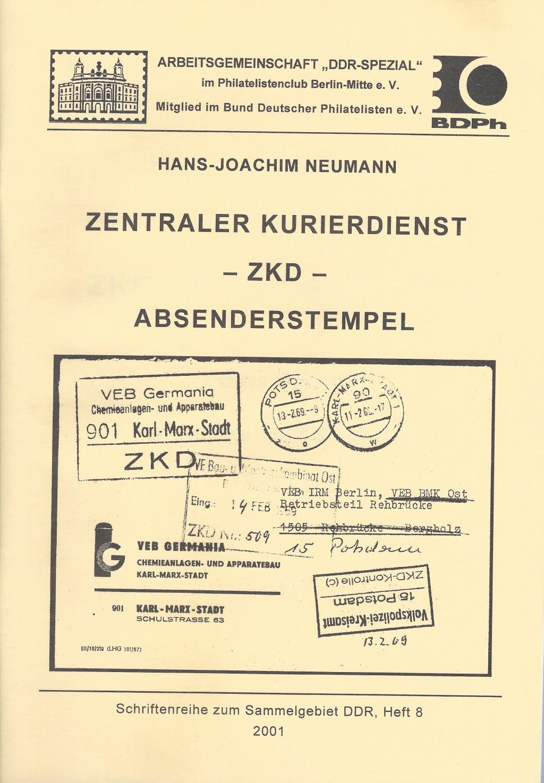 DDR Philatelie Literatur ZKD Absenderstempel