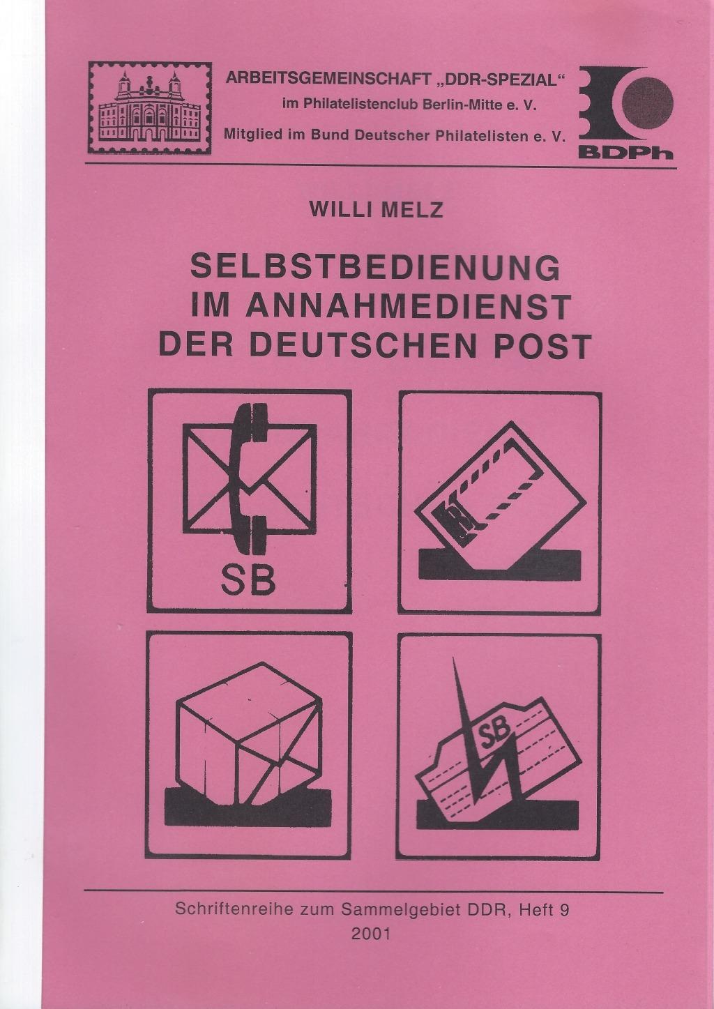 DDR Philatelie Literatur Selbstbedienung SbPA