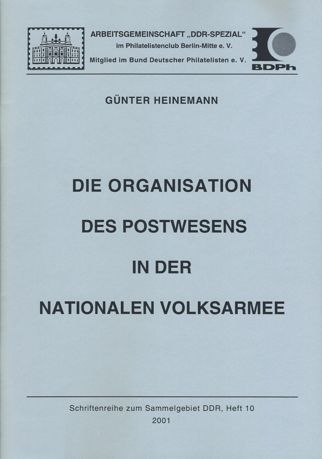 DDR Philatelie Literatur Postwesen Nationale Volksarmee NVA