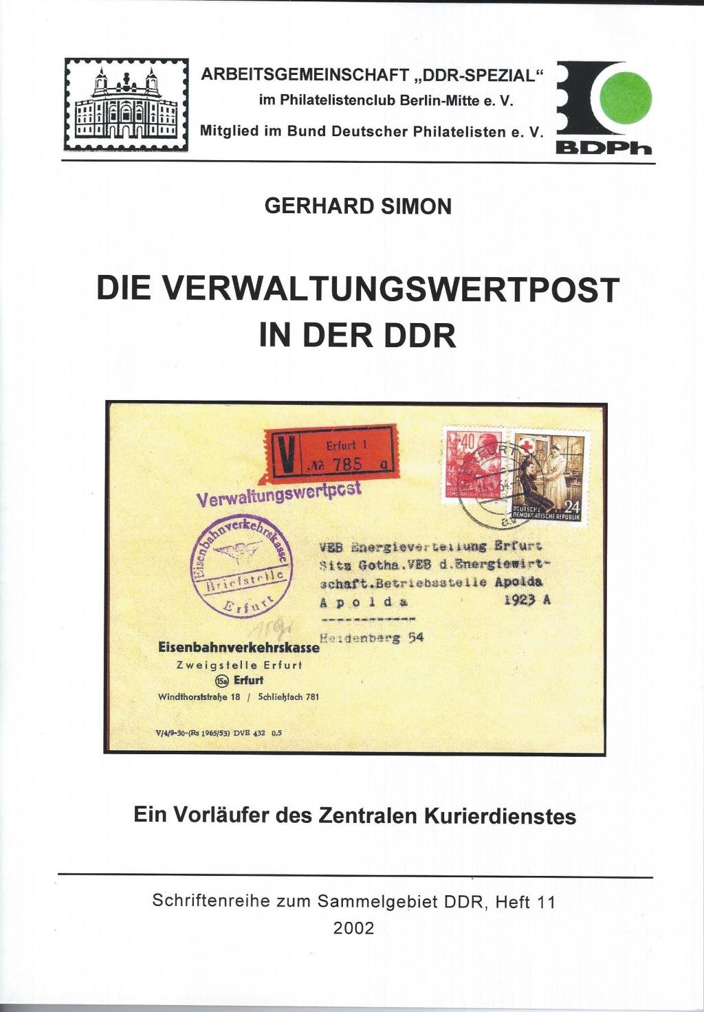 DDR Philatelie Literatur Verwaltungspost