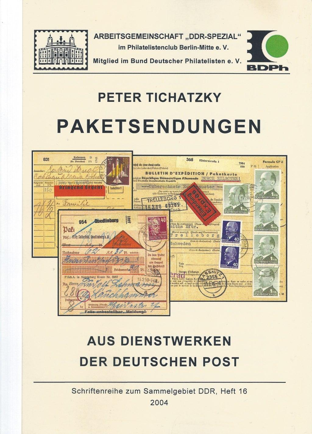 DDR Philatelie Literatur Paketsendungen