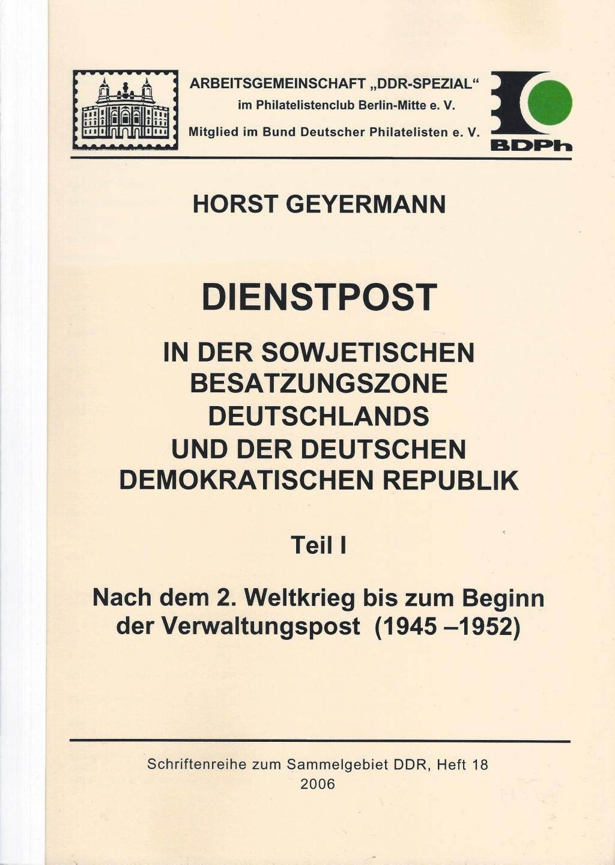 DDR Philatelie Literatur Dienstpost