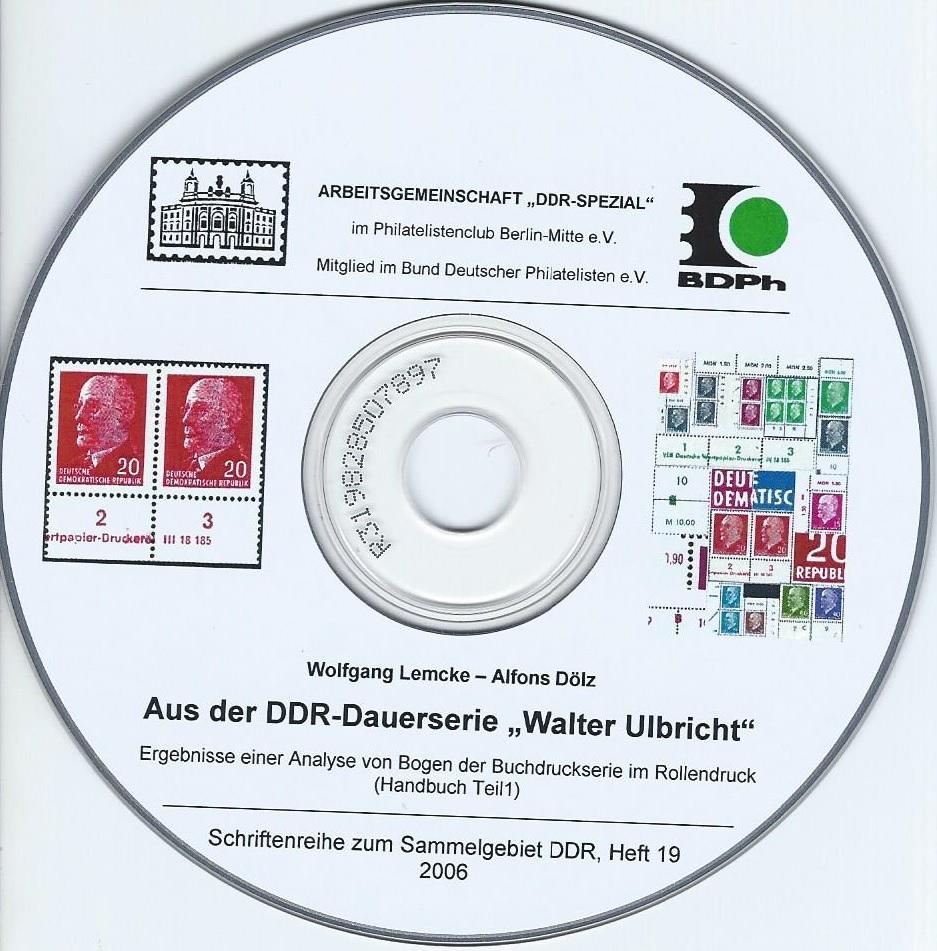 DDR Philatelie Literatur Dauerseire Walter Ulbricht