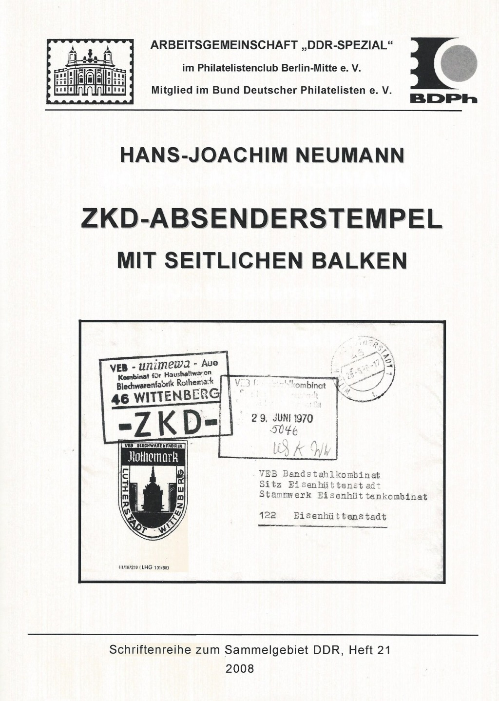 DDR Philatelie Literatur ZKD