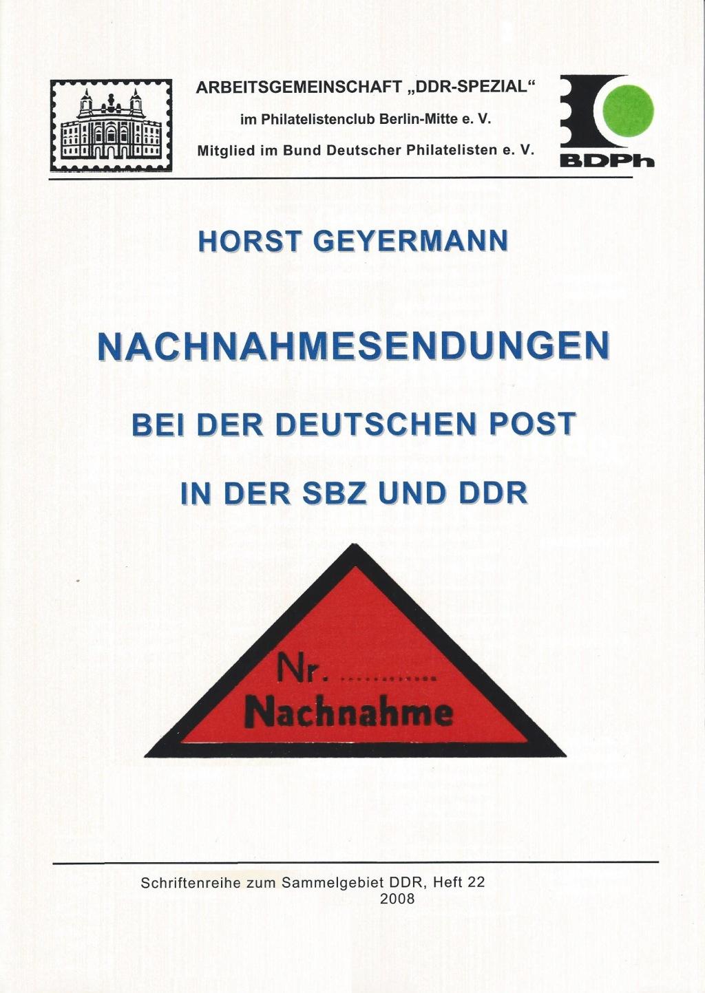DDR Philatelie Literatur Nachnahme SBZ