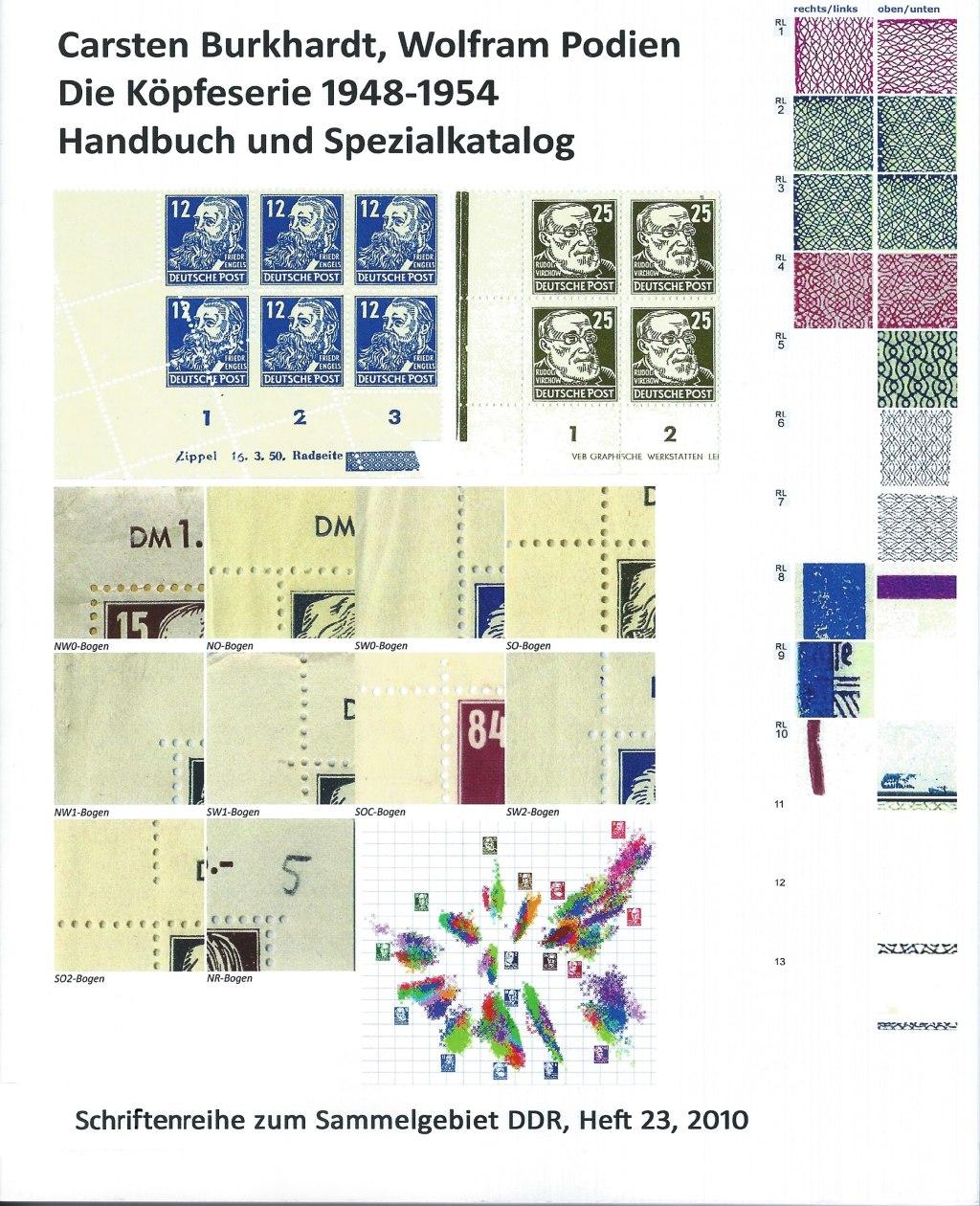 DDR Philatelie Literatur Köpfe Pieck Dauerserie