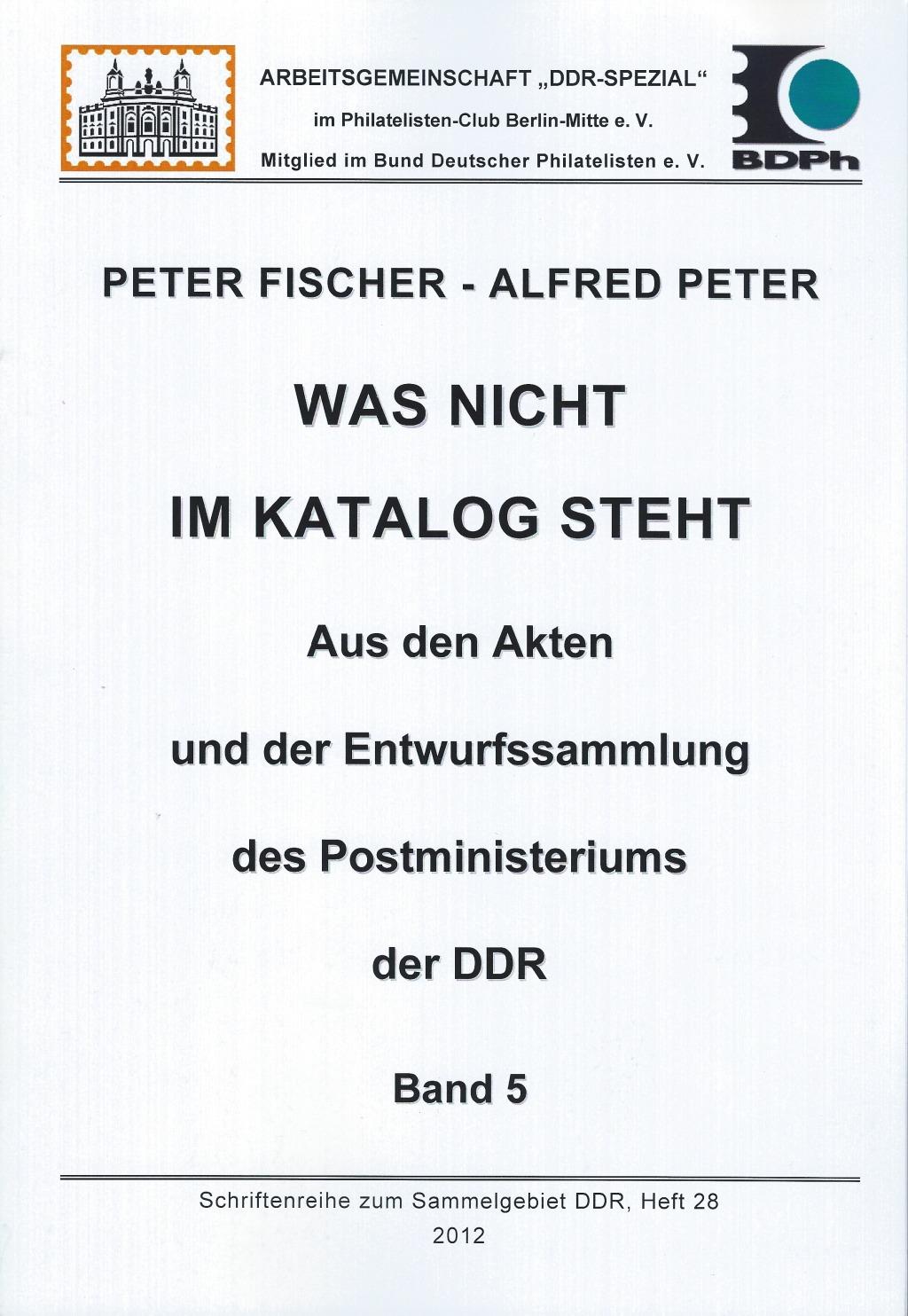 DDR Philatelie Literatur Akten Postministerium