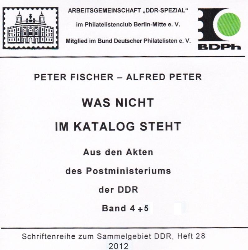 DDR Philatelie Literatur Postministerium Akten