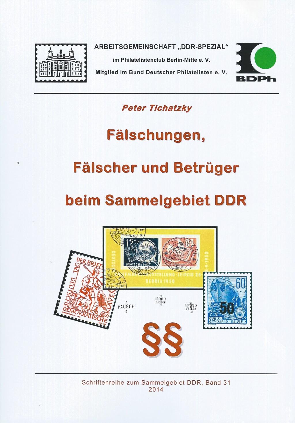 DDR Philatelie Literatur Fälschungen Fälscher