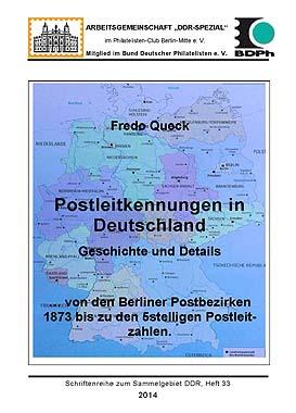 DDR Philatelie Literatur Postleitkennung Postbezik Postleitzahl
