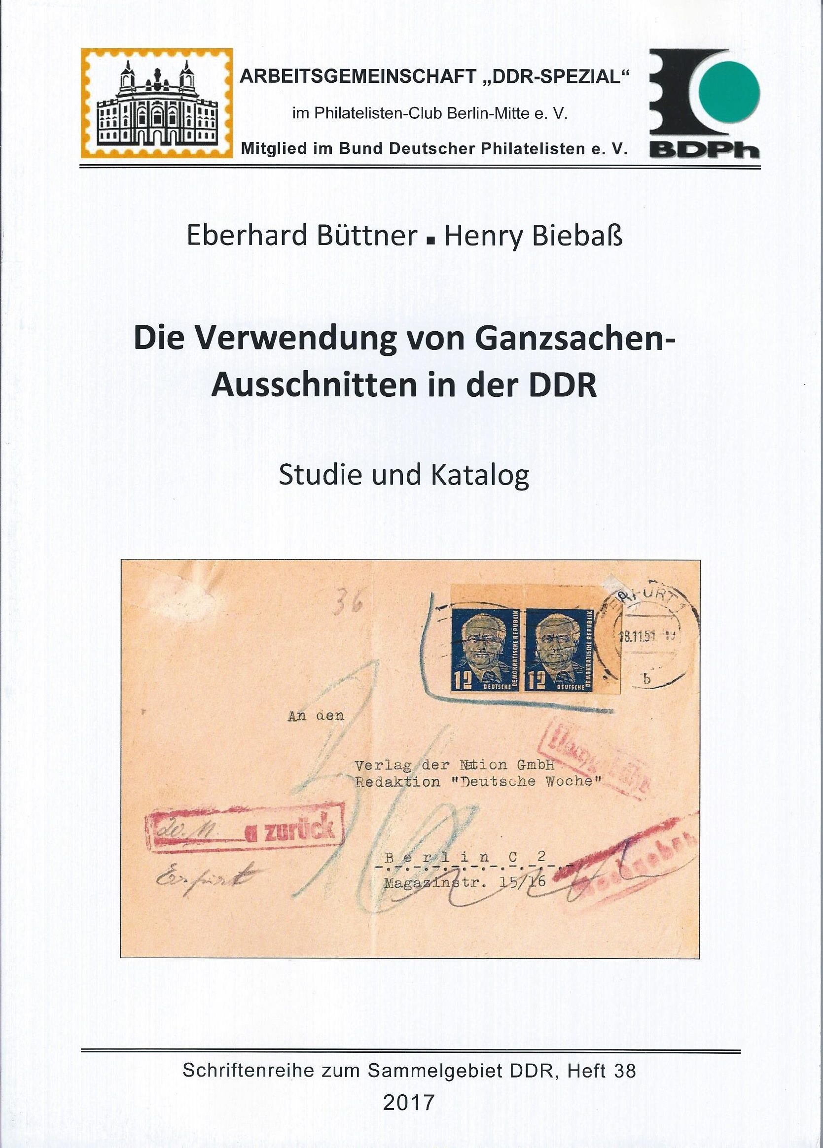 DDR Philatelie Literatur