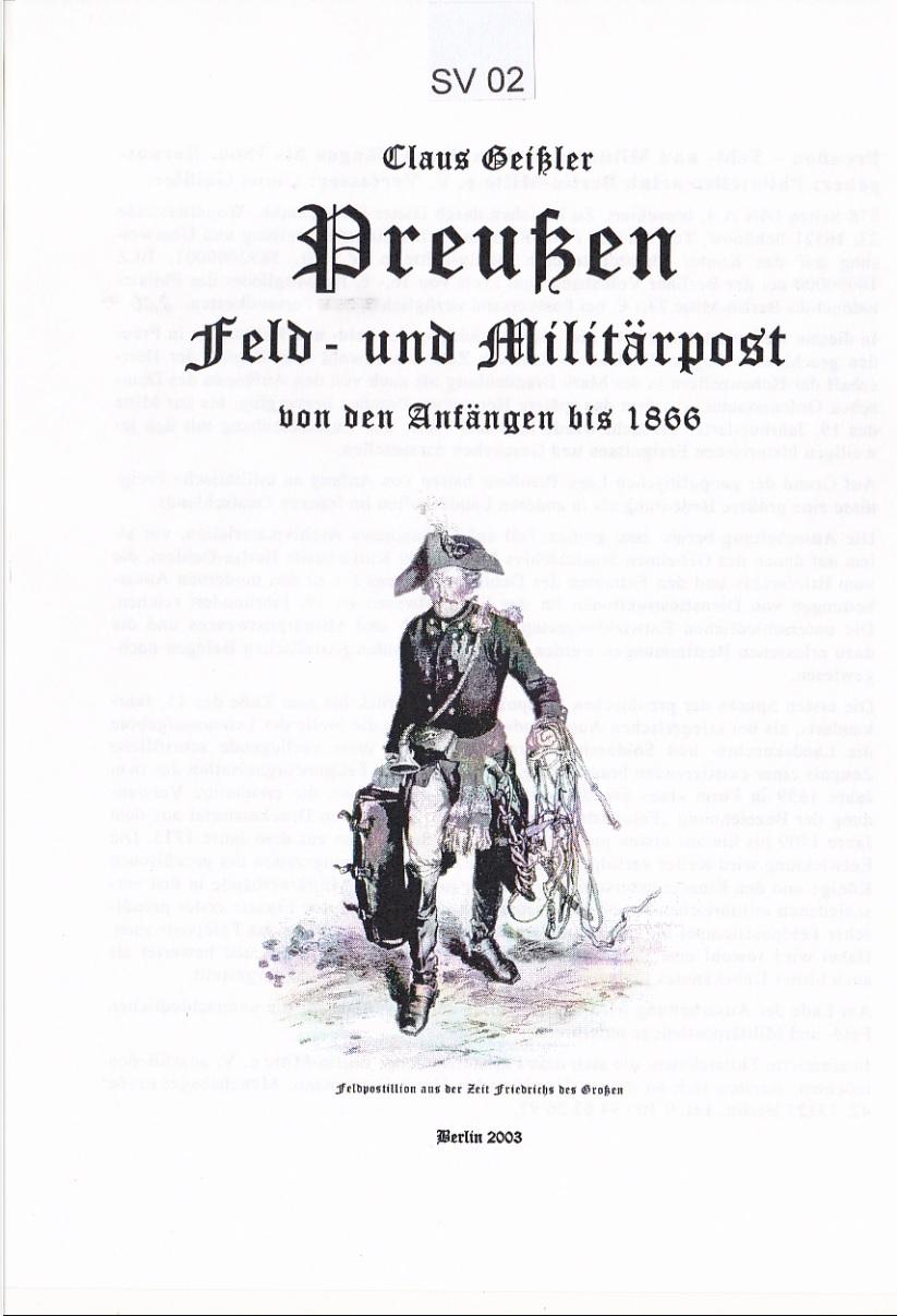 Preussen Philatelie Literatur