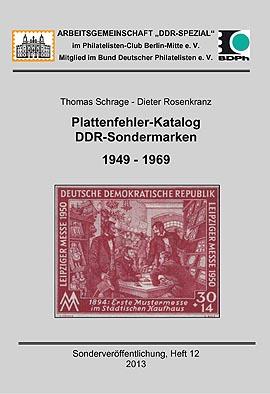 DDR Philatelie Literatur Plattenfehler Sondermarken Katalog