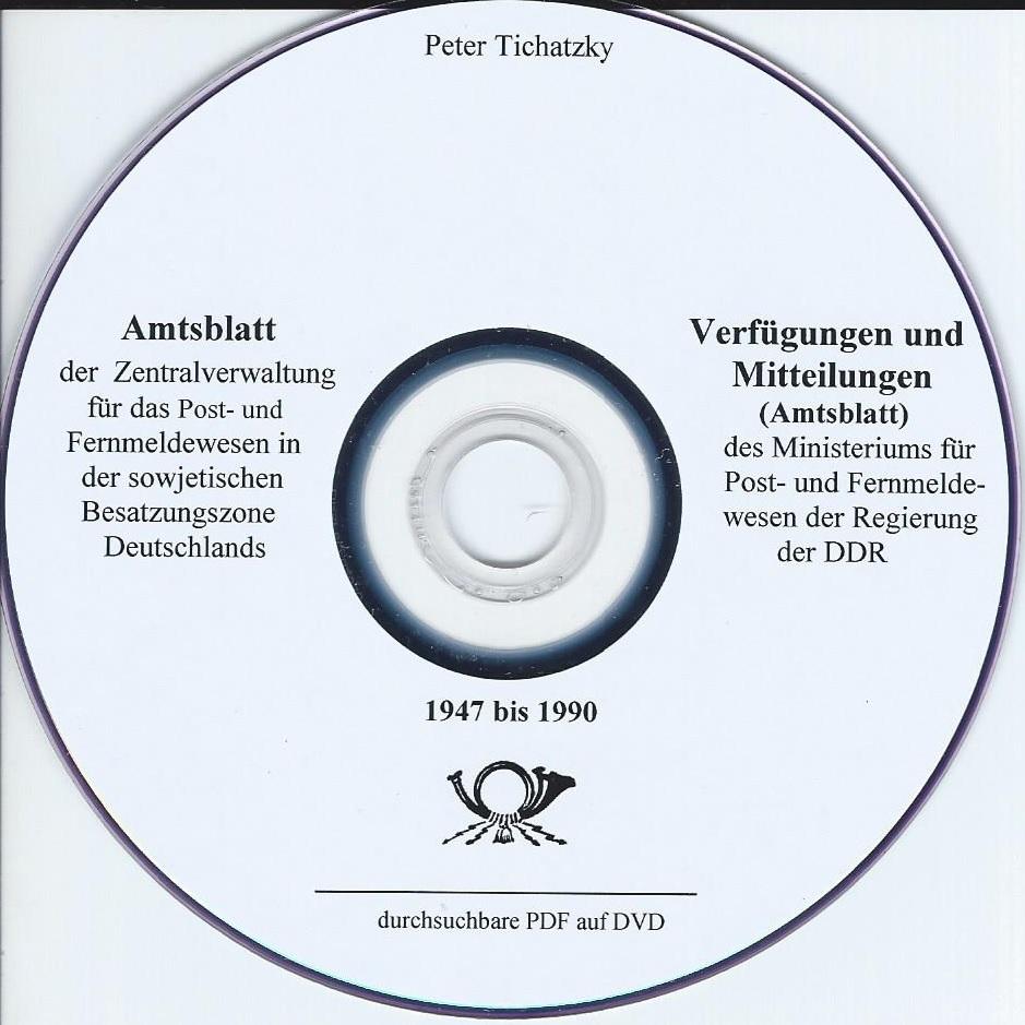 DDR Philatelie Literatur Verfügungen Mitteilungen Amtsblatt