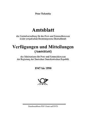 Philatelie Literatur Amtsblatt SBZ ZPF