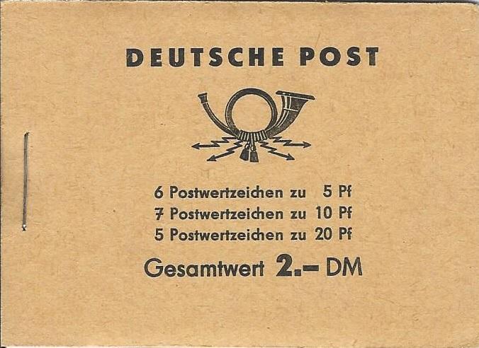 DDR Philatelie Briefmarken Forschung Markenheftchen