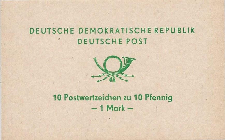 DDR Markenheftchen Zusammendrucke SMHD