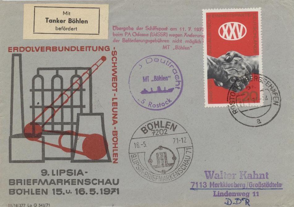 Philatelie DDR Sonderpostbeförderung