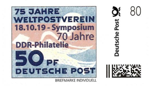 DDR Philatelie Symposium 70 Jahre Briefmarke individuell