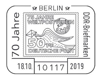 DDR Philatelie Symposium 70 Jahre Sonderstempel