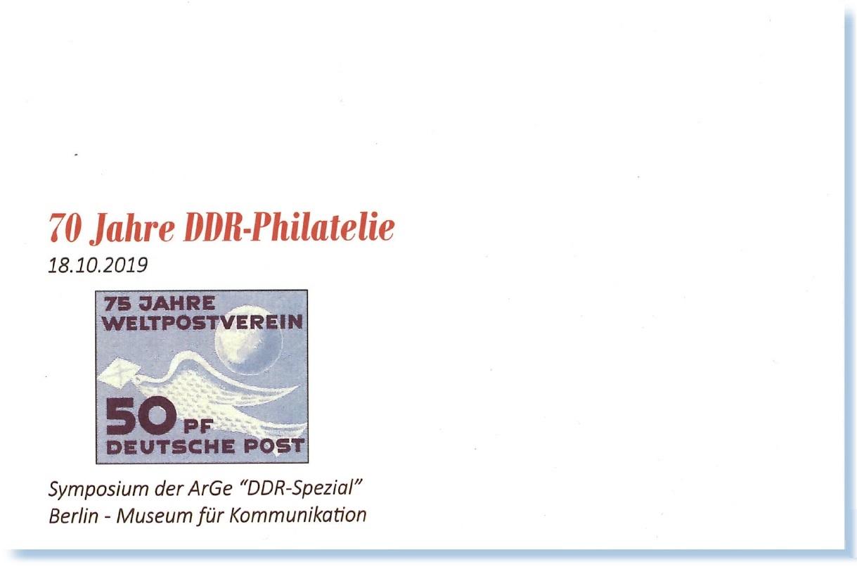 DDR Philatelie Symposium 70 Jahre Umschlag