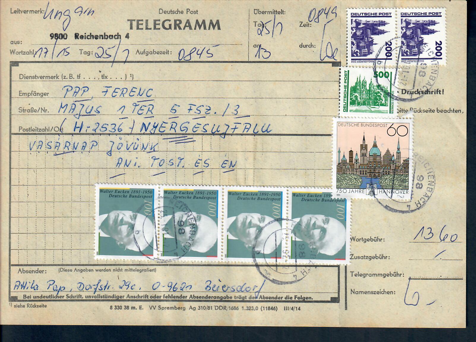 DDR Telegramme