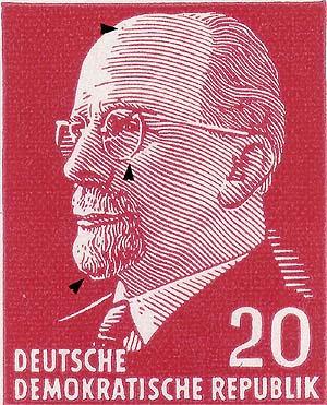 DDR Philatelie Briefmarken Forschung Dauerserie Walter Ulbricht